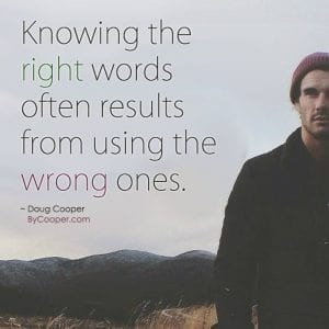 Knowing The Right Words Graphic
